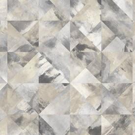 Mosaic Wallpaper in Beige, Black & Greys