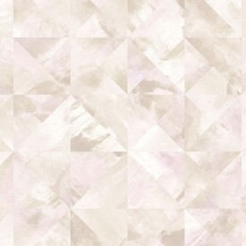 Mosaic Wallpaper in Pinks, Beige and Coffee