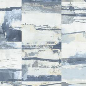 Aquarelle Tile Wallpaper in Blues & Beige