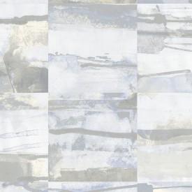 Aquarelle Tile Wallpaper in Blue, Cream & Greys