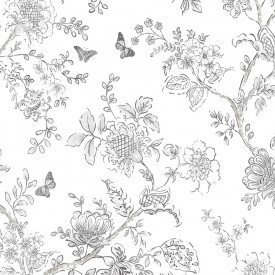 Butterfly Toile Wallpaper