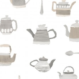 Tea Pots Wallpaper