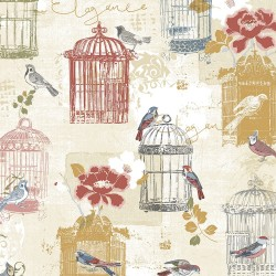 Victorian Birdcage Wallpaper