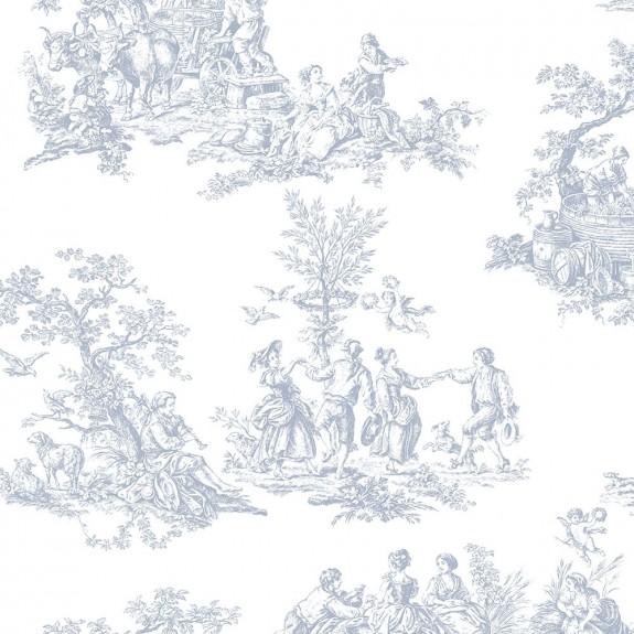 Romantic Toile Wallpaper
