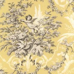 Fabric Toile Wallpaper