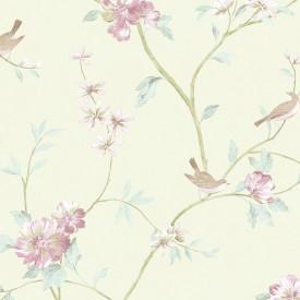 Floral Bird Sidewall Wallpaper