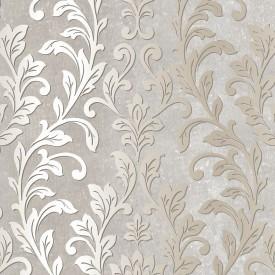 Silver Leaf Damask Wallpaper
