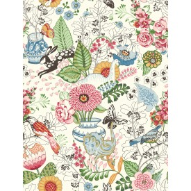 Whimsy Multicolor Fauna Wallpaper