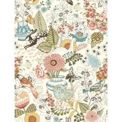 Whimsy Pink Fauna Wallpaper