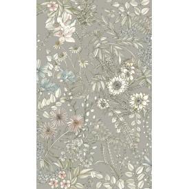 Full Bloom Beige Floral Wallpaper