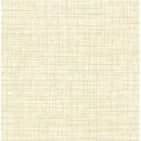 Mendocino Light Yellow Linen Wallpaper