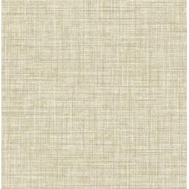 Mendocino Light Brown Linen Wallpaper
