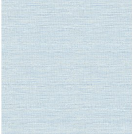 Agave Blue Faux Grasscloth Wallpaper