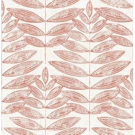 Akira Coral Leaf Wallpaper