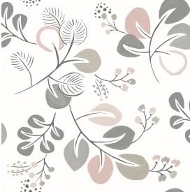 Jona Light Pink Trail Wallpaper