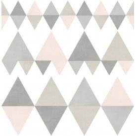 Trilogy Light Pink Geometric Wallpaper