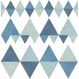 Trilogy Blue Geometric Wallpaper