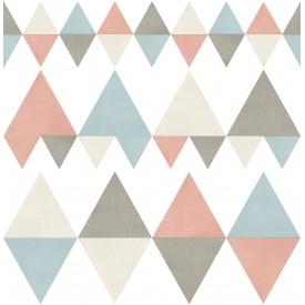 Trilogy Coral Geometric Wallpaper