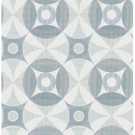 Ellis Teal Geometric Wallpaper