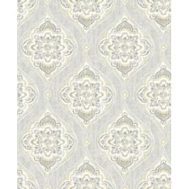 Adele Light Grey Damask Wallpaper