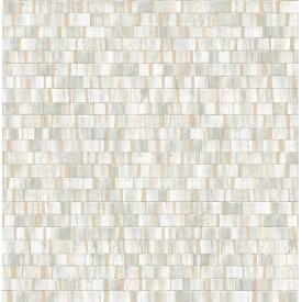 Dobby Champagne Geometric Wallpaper