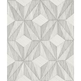 Paragon Silver Geometric Wallpaper