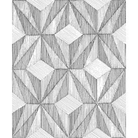 Paragon Black Geometric Wallpaper