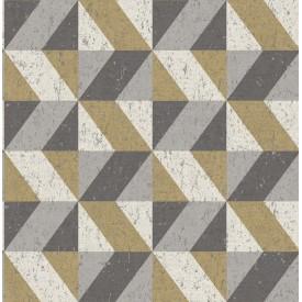 Cerium Metallic Concrete Geometric Wallpaper