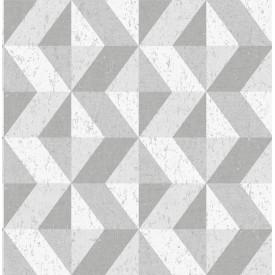 Cerium Grey Concrete Geometric Wallpaper