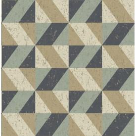 Cerium Multicolor Concrete Geometric Wallpaper