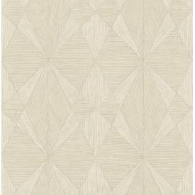 Intrinsic Cream Geometric Wood Wallpaper