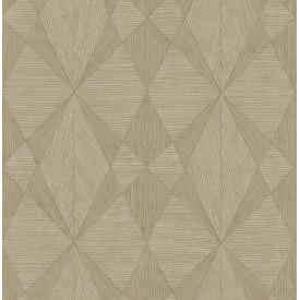 Intrinsic Light Brown Geometric Wood Wallpaper