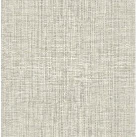 Rattan Off-White Woven Wallpaper