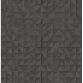 Gallerie Dark Brown Geometric Wood Wallpaper