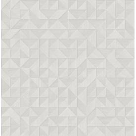 Gallerie Light Grey Geometric Wood Wallpaper