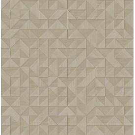 Gallerie Beige Geometric Wood Wallpaper