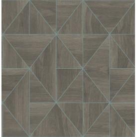Cheverny Coffee Geometric Wood Wallpaper