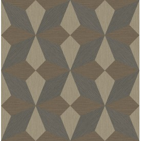 Valiant Multicolor Faux Grasscloth Geometric Wallpaper