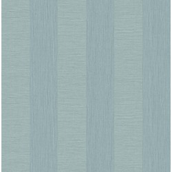 Intrepid Aqua Faux Grasscloth Stripe Wallpaper