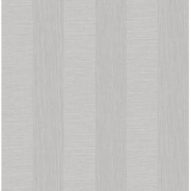 Intrepid Light Grey Faux Grasscloth Stripe Wallpaper