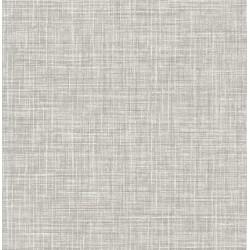 Poise Grey Linen Wallpaper