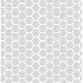 Aura Grey Honeycomb Wallpaper