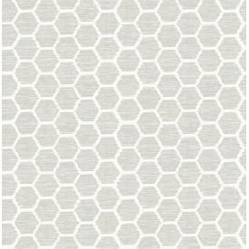 Aura Platinum Honeycomb Wallpaper