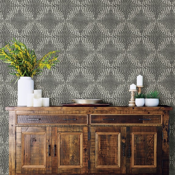 Ethos Pewter Abstract Wallpaper