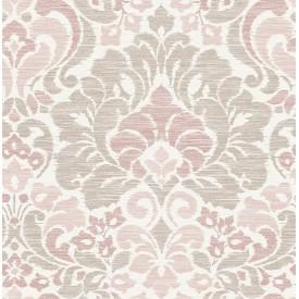 Garden of Eden Pink Damask Wallpaper