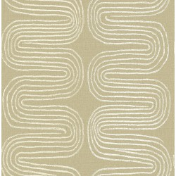 Zephyr Honey Abstract Stripe Wallpaper
