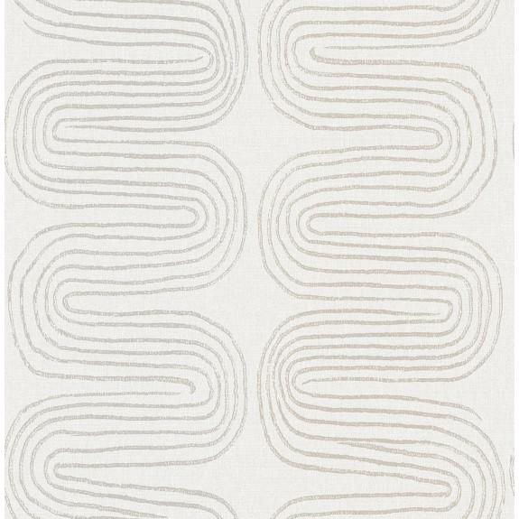Zephyr Grey Abstract Stripe Wallpaper