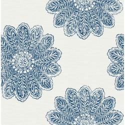 Sol Indigo Medallion Wallpaper