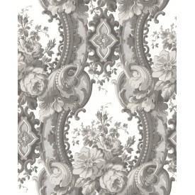 Dreamer Grey Damask Wallpaper