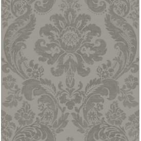 Shadow Grey Damask Wallpaper